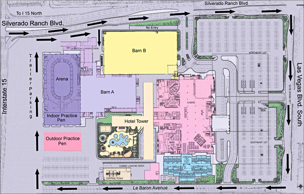 South point casino location map