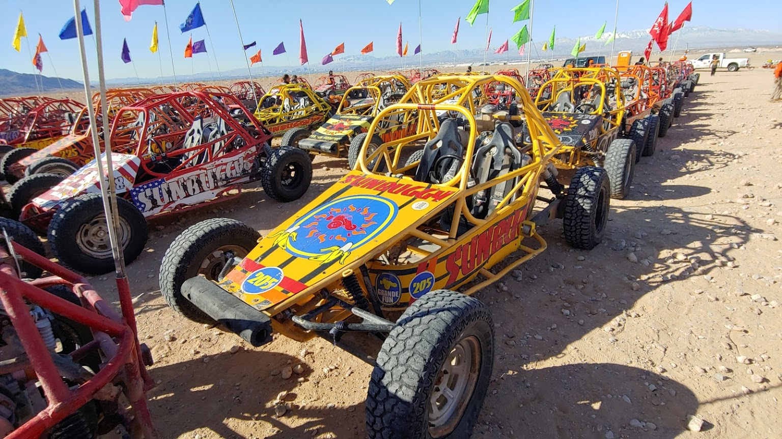 So Many Dune Buggies at SunBuggy Las Vegas